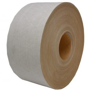 "3"" x 450' White Water Activated Reinforced Paper Tape (10 Rolls) - Miller-T-058"