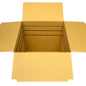 12 x 12 x 6 Box (-4) Kraft RSC Vari-depth Box (25 Boxes)