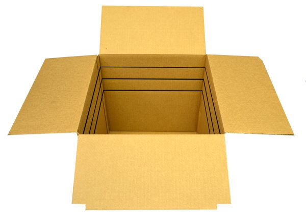 10 x 6 x 6 Box (-4) Kraft RSC Vari-depth Box (25 Boxes)