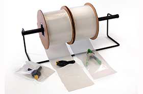 """4 x 5"""" 2 Mil Clear Pre-Opened Auto Fill Poly Bags on Roll (2,000 Bags)"""