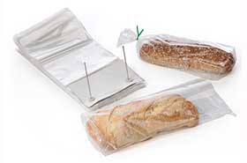 "8.75 X 15 + 2.5"" 1.25 Mil Clear Wicketed Plastic Bread Bags (1,000 Bags)"
