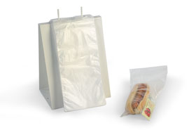 "6.5 x 7"" Clear Flip Top Saddle Pack Deli Poly Bags (2,000 Bags)"