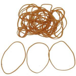 """Industrial Rubber Bands - Standard Size Bands - 3-1/2"""" x 1/16"""", Size 19 (Approx. 1220/Bag) (25lbs/Case) (1 Case) - EP-4019"""