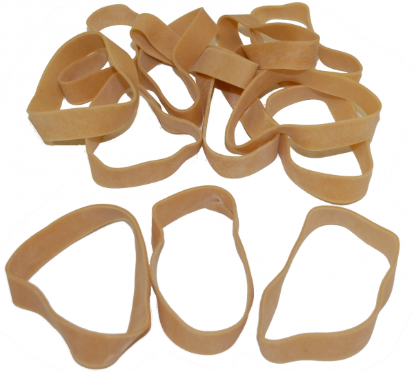 "Industrial Rubber Bands - Standard Size Bands - 3-1/2"" x 1/2"", Size 84 (Approx. 155/Bag) (25lbs/Case) (1 Case) - EP-4084"