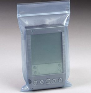 """15"""" x 18"""" Anti-Static Humidity Independent Poly Zipper Bag - Blue Tinted (6 mil) (250 per carton)"""
