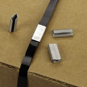 """1/2"""" Single Feed Serrated Seals for Polyester Strapping (1000 per carton)"""