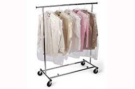 """21 x 4 x 30"""" .6 Mil Clear Plastic Garment Bags (650/Roll)"""
