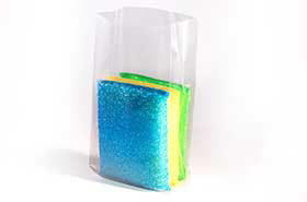 """12 X 8 X 24"""" 2 Mil Clear Gusseted Poly Bags (500 Bags)"""