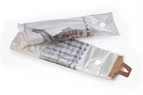 "5.5 x 16"" .4 Mil Clear Plastic Newspaper Bags w/Hole (2,000 Bags)"