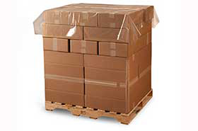 """60 x 60"""" 1.25 Mil Clear Plastic Pallet Top Sheeting Covers (250 Bags)"""
