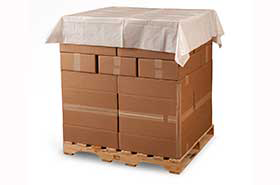 """60 X 60"""" 2 Mil White Plastic Pallet Top Sheeting Covers (175 Bags)"""