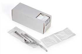 "3.75 X 10"" + 1.75"" BF .65 Mil Clear Plastic Silverware Bags (2,000 Bags)"