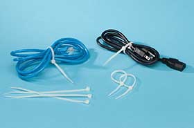 "7"" Locking Nylon Cable Ties (1,000 Ties)"