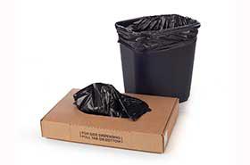 "15 x 9 x 23"".48 Mil 7-10 Gallon Black Trash Bags (1,000 Bags)"