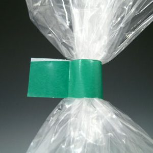 "1/2"" x 180 yds. Bag Closing Tape - Green (2.4 mil) (12 per bag)"