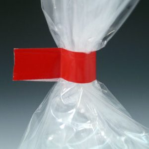 "1/2"" x 180 yds. Bag Closing Tape - Red (2.4 mil) (12 per bag)"