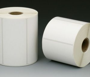 """4"""" x 6"""" Direct Thermal Transfer Labels with 1"""" Core - White (250 Labels per Roll; 12 Rolls per Carton)"""