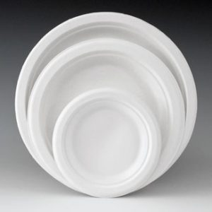 """10"""" Round Compostable Bagasse Plates (50 Plates)"""