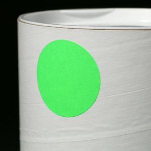"""1"""" Circle Flourescent Green Colored Inventory Labels (500 Labels)"""