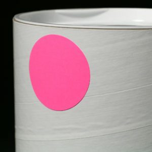 """1"""" Circle Fluorescent Pink Colored Inventory Labels (500 Labels)"""