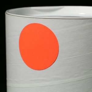 """3/4"""" Circle Fluorescent Red Colored Inventory Labels (500 Labels)"""