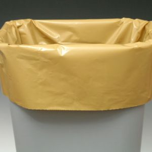 """20"""" x 13"""" x 39"""" Linear Low Density Gusseted Poly Liner - Buff (1.1 mil) (250 per carton)"""