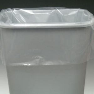 "13"" x 4"" x 17"" Low Density Gusseted Trash Bags - Clear (1 mil) (1000 per carton)"