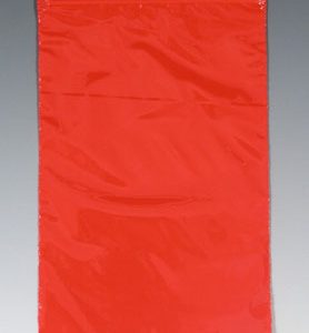 """10"""" x 12"""" Our Own Brand Colored Zipper Bag - Red (2 mil) (1000 per carton)"""