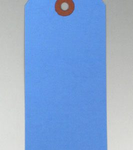 "6-1/4"" x 3-1/8"" No. 8 Dark Blue Colored Tags (1000 Tags)"