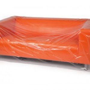 "140 x 45"" 1 Mil Clear Plastic Furniture Sofa Covers (100/Roll)"