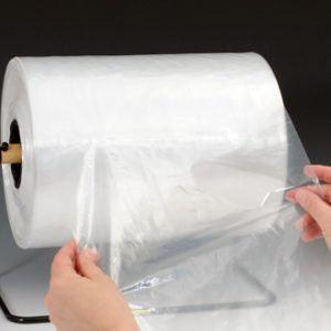 "10"" x 14"" Low Density Poly Bag - Perforated on a Roll of 1,000 Bags with Twist Ties (1 mil) (1000 per roll)"