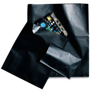 "12"" x 16"" Electrically Conductive Flat Poly Bag - Black (4 mil) (500 per carton)"