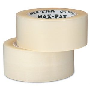 "3"" x 375' Whisper-Quiet Acrylic Adhesive Polypropylene Carton Sealing Tape - Clear (2 mil) (24 per carton)"