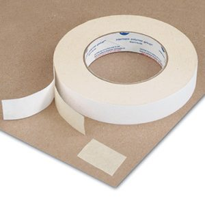 """1"""" x 108' Double Sided Paper Tape (5.4 Mil) - 36 Rolls per Carton"""