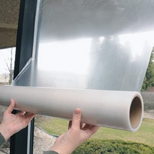 """12"""" x 200' Window Protection Film - Clear (1.5 mil) (1 Roll)"""