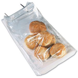 """8-3/4"""" x 15"""" Wicketed Poly Bag + 2-1/2"""" Bottom Gusset (1.25 mil) (250 Bags per Wicket; 4 Wickets per Carton) (1000 per carton)"""