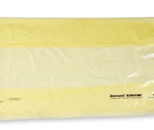 """48-1/2"""" x 42-1/2"""" x 60"""" Zerust® VCI Anti-Rust Gusseted Poly Liners - Yellow Tinted (2 mil) (100 per roll)"""
