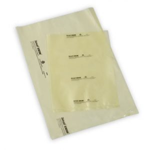 "12"" x 12"" Zerust® VCI Anti-Rust Flat Poly Bag - Yellow Tinted (4 mil) (1000 per carton)"