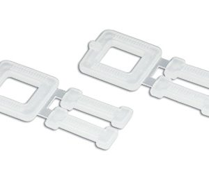 "1/2"" White Plastic Buckles for Postal Polypropylene Strapping Kit (250 per carton)"