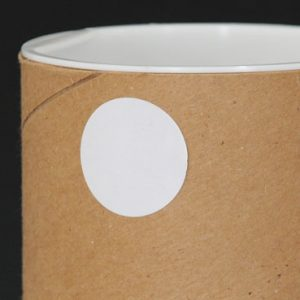 """1"""" Circle White Matte Colored Inventory Labels (500 Labels)"""