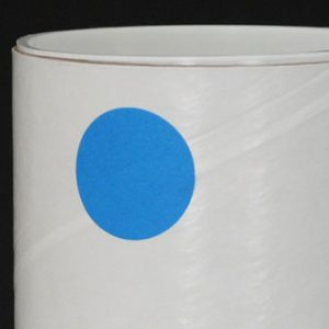 """1"""" Circle Fluorescent Blue Colored Inventory Labels (500 Labels)"""