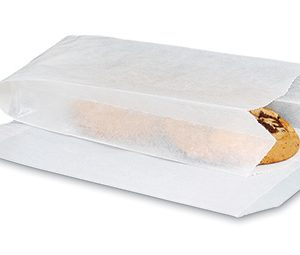 "3-1/2"" x 2-1/4"" x 7-3/4"" Glassine Bags with Gusset (25 lb.) (1000 per carton)"