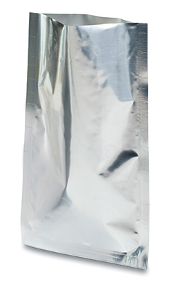 "12"" x 18"" Polyester Foil Barrier Pouches (4 mil) - Silver (500 per carton)"