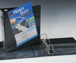 """1-1/2"""" Avery® One Touch™ EZD® 3-Ring View Binder - Black"""