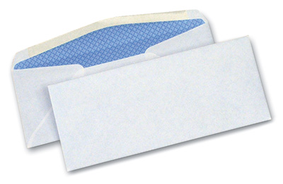 """4-1/8"""" x 9-1/2"""" Security Tinted Business Envelope #10 (40 Envelopes)"""