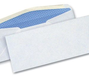 "4-1/8"" x 9-1/2"" Security Tinted Business Size #10 Envelope - White (24 lb.) (500 per box)"
