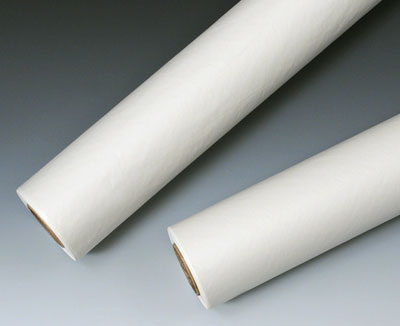 """21"""" x 125' Medline White Exam Table Paper on a Roll - Crepe"""