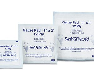 "4"" x 4"" First Aid Sterile Gauze Pads (25 per box)"