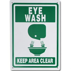 "10"" x 14"" High Performance Plastic Eye Wash Sign (60 mil)"