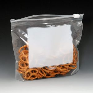 """10-9/16"""" x 9-5/8"""" Our Own Brand Write-on® Slider Zipper Bags with 2-3/4"""" Bottom Gusset (2.7 mil) (250 per carton)"""